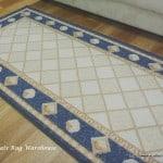 Door Mats Luxor tiles beige rubber backed mat