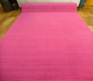 Pink Grandeur Plush Pile Wedding Event Exhibition Thick Washable Carpet Aisle Runner