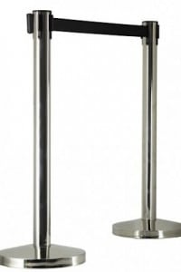 Stainless Steel Bollard Stanchion Post with Retractable Webbing