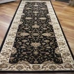 Carpet Runners Set 3m Rugs Heritage Black All Over