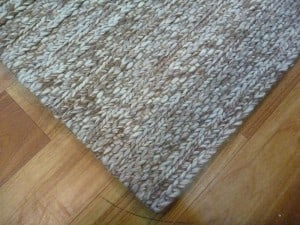 Hand-knotted New Zealand Wool Svend Taupe Area Floor Rug Close Image