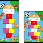 Animal Hopscotch Play Mat