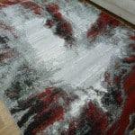Bright Modern Design Floor Area Rugs Grey Black Red Lava